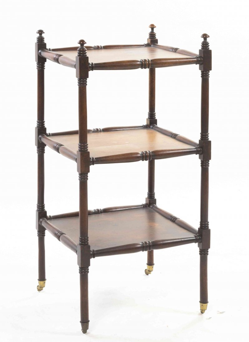 A Regency Style Mahogany Etagere, Height 34 1/4 x width