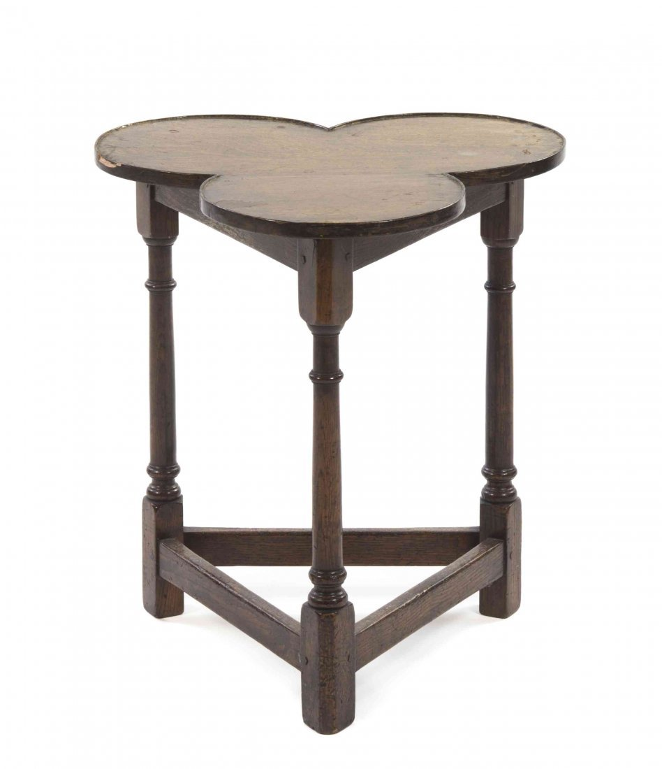 A Jacobean Revival Occasional Table, Height 20 inches.