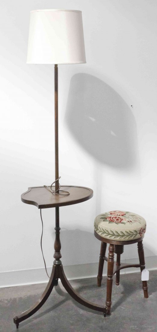 A Victorian Adjustable Stool, Height of first 18
