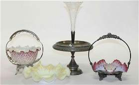 A Collection of Victorian SilverPlate and Glass