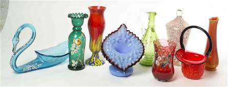 A Collection of Victorian Glass Articles, Height of