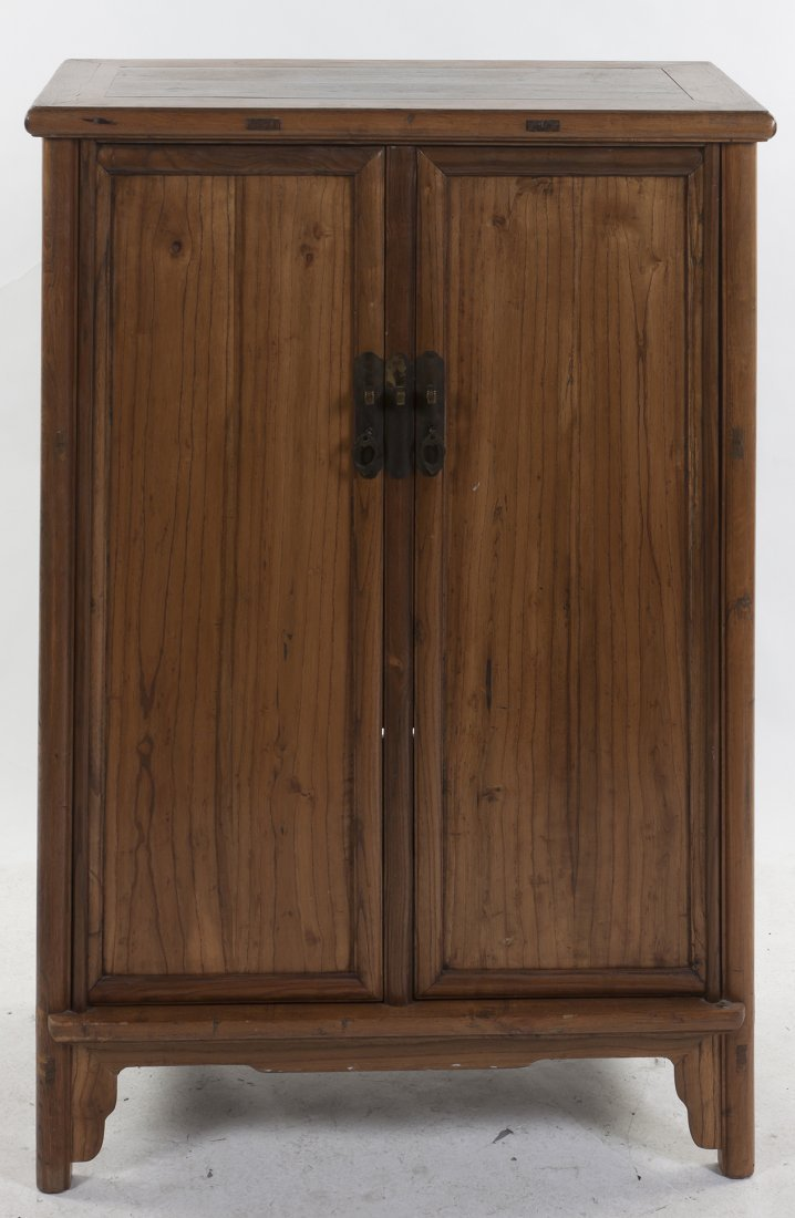 A Chinese Wood Cabinet, Height 47 1/2 x width 30 3/8 x