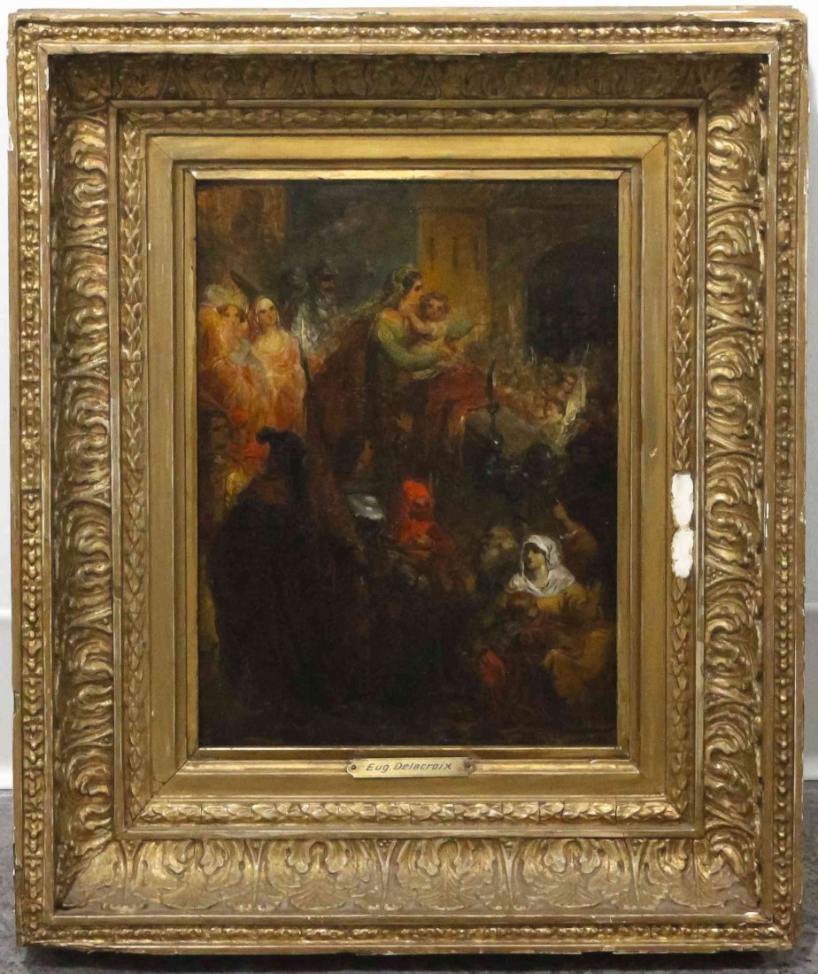Attributed to Eugene Delacroix, (French, 1798-1863),