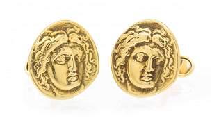 A Pair of 18 Karat Yellow Gold Cufflinks 1310 dwts