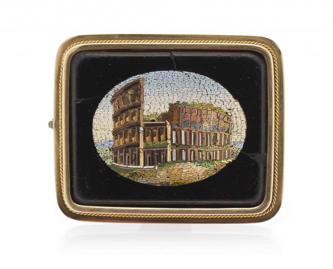 A Victorian Micromosaic Brooch, 16.50 dwts.