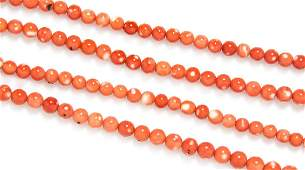 A Single Strand Coral Bead Necklace
