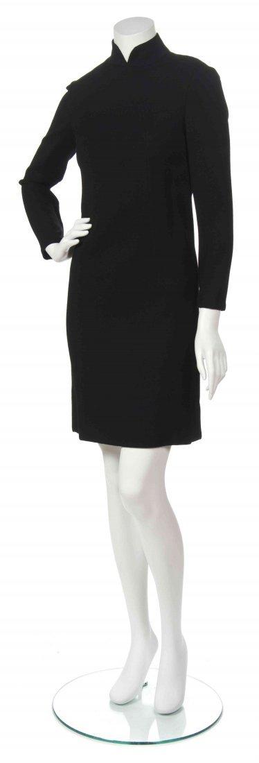 A George Halley Black Wool Dress,