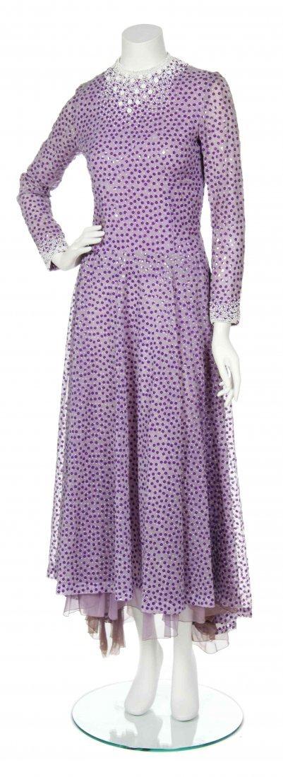 A George Halley Purple Organza Dress,