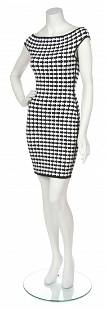 An Herve Leger Black and White Arrow Print Dress, Size