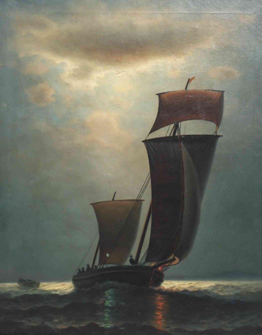 James Gale Tyler, (American, 1855-1931), Sailing at