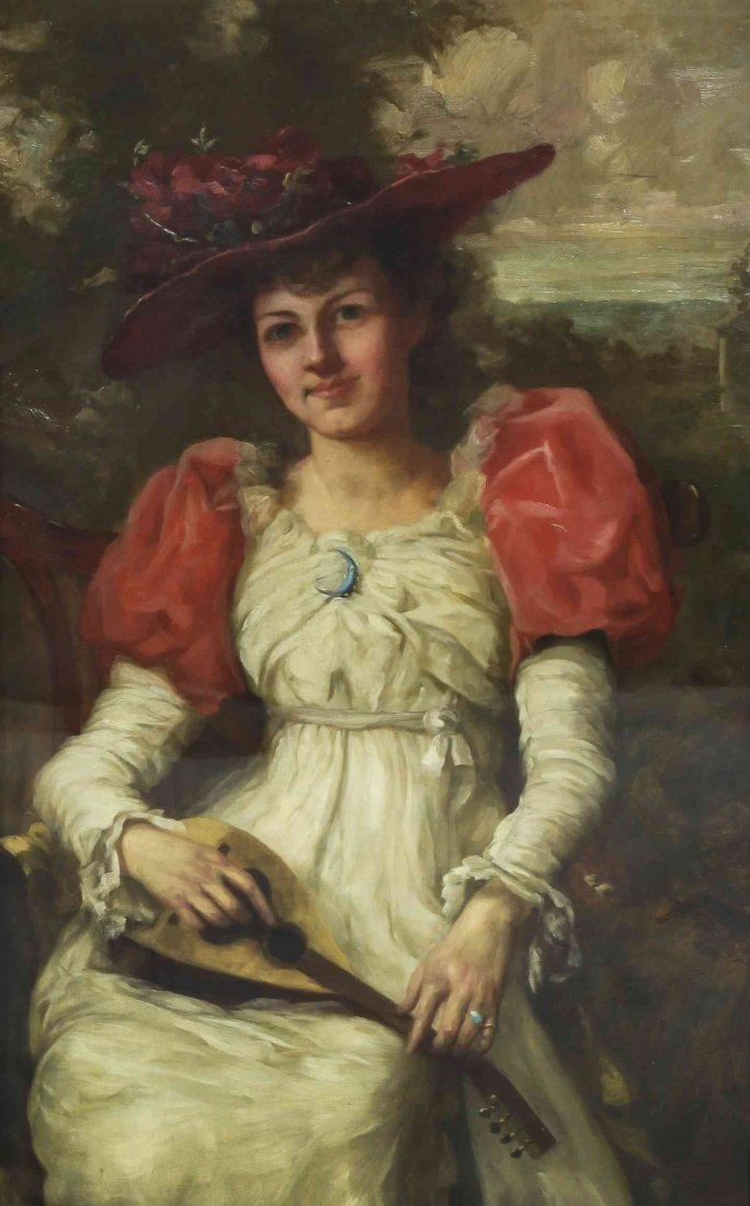 George Henry Story, (American, 1835-1923), Girl with