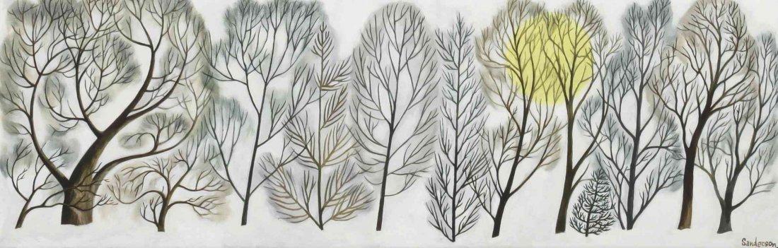 William Sanderson, (American, 1905-1990), Winter Trees,