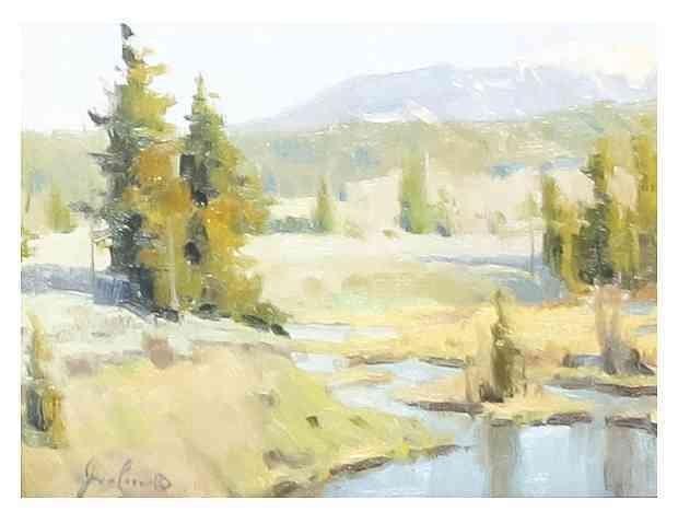 John Poon, (American, 20th century), Wyoming Dusk