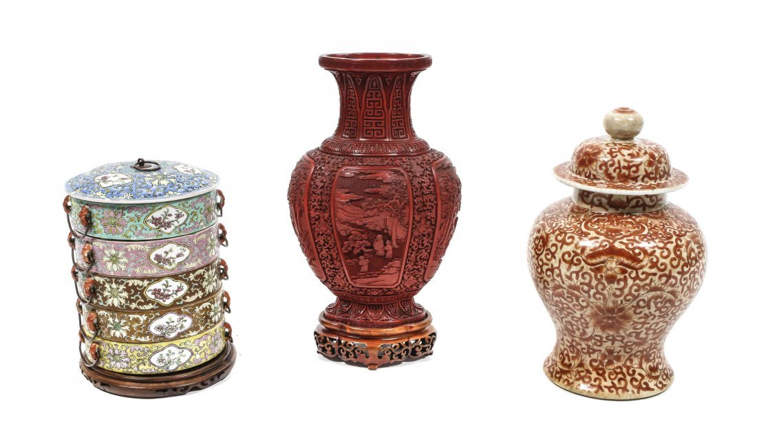 Two Chinese Porcelain Vessels, Height of tallest