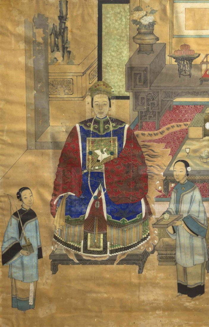 A Chinese Ancestor Portrait, Height 44 5/8 x width 28