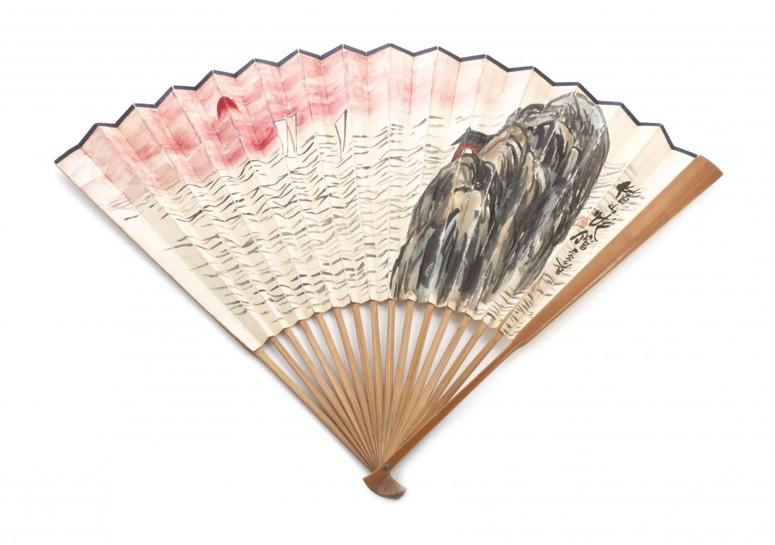 A Chinese Fan Painting, After Qi Baishi (1864-1957) ,