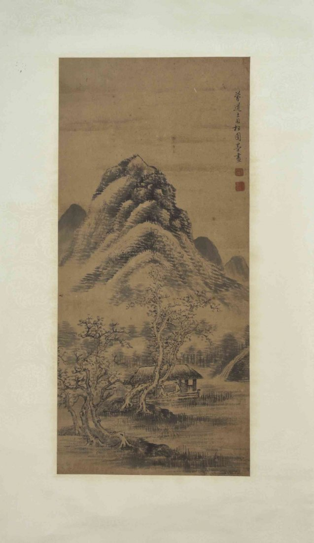 A Chinese Painting on Paper, Height 25 1/8 inches.
