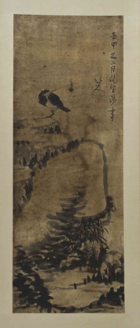 A Chinese Painting on Paper, After Bada Shanren
