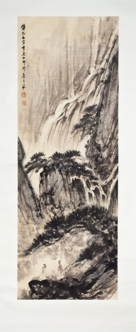 A Chinese Painting on Paper, After Fu Baoshi