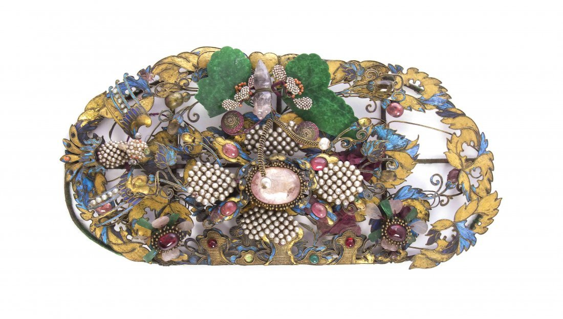 A Chinese Hair Ornament, Width 9 1/2 inches.