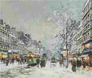 Antoine Blanchard, (French, 1910-1988), Boulevard de