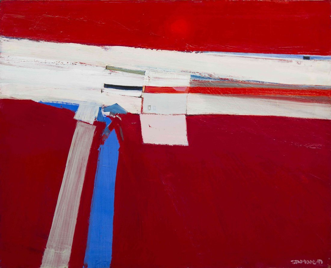 Raimonds Staprans, (American/Latvian, 1926), Abstract,