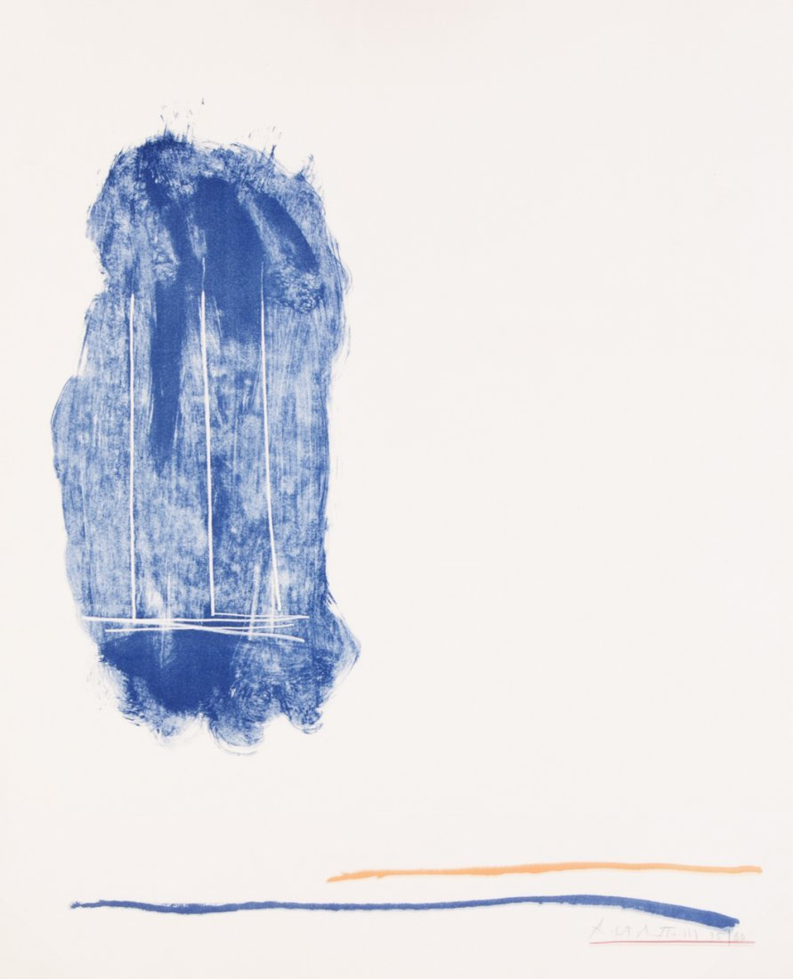 Robert Motherwell, (American, 1915-1991), Lines for St.