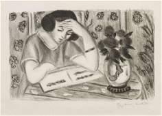 Henri Matisse, (French, 1869-1954), Liseuse au bouquet