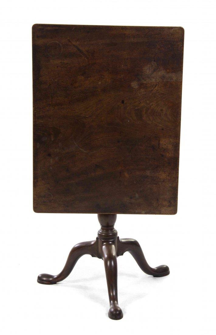 A Queen Anne Walnut Tilt-Top Tea Table, Height 27 x
