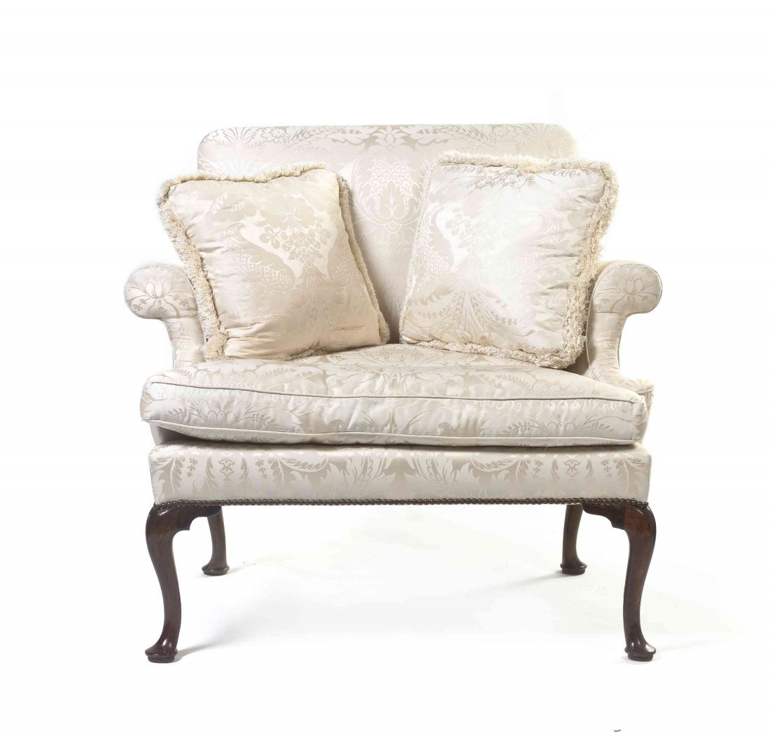 A Queen Anne Style Walnut Double Wide Armchair, Height