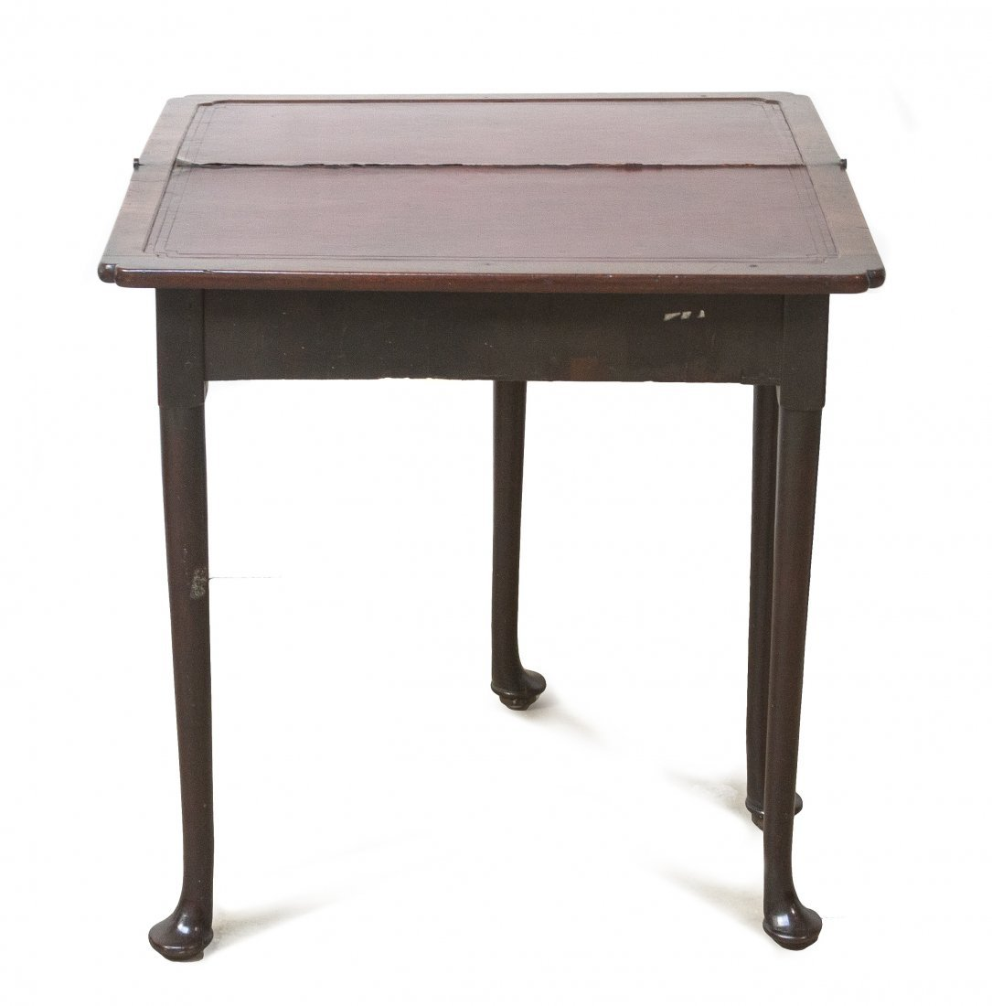 A Queen Anne Style Walnut Games Table, Height 29 x