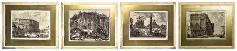 Four Italian Architectural Engravings, after Giovanni
