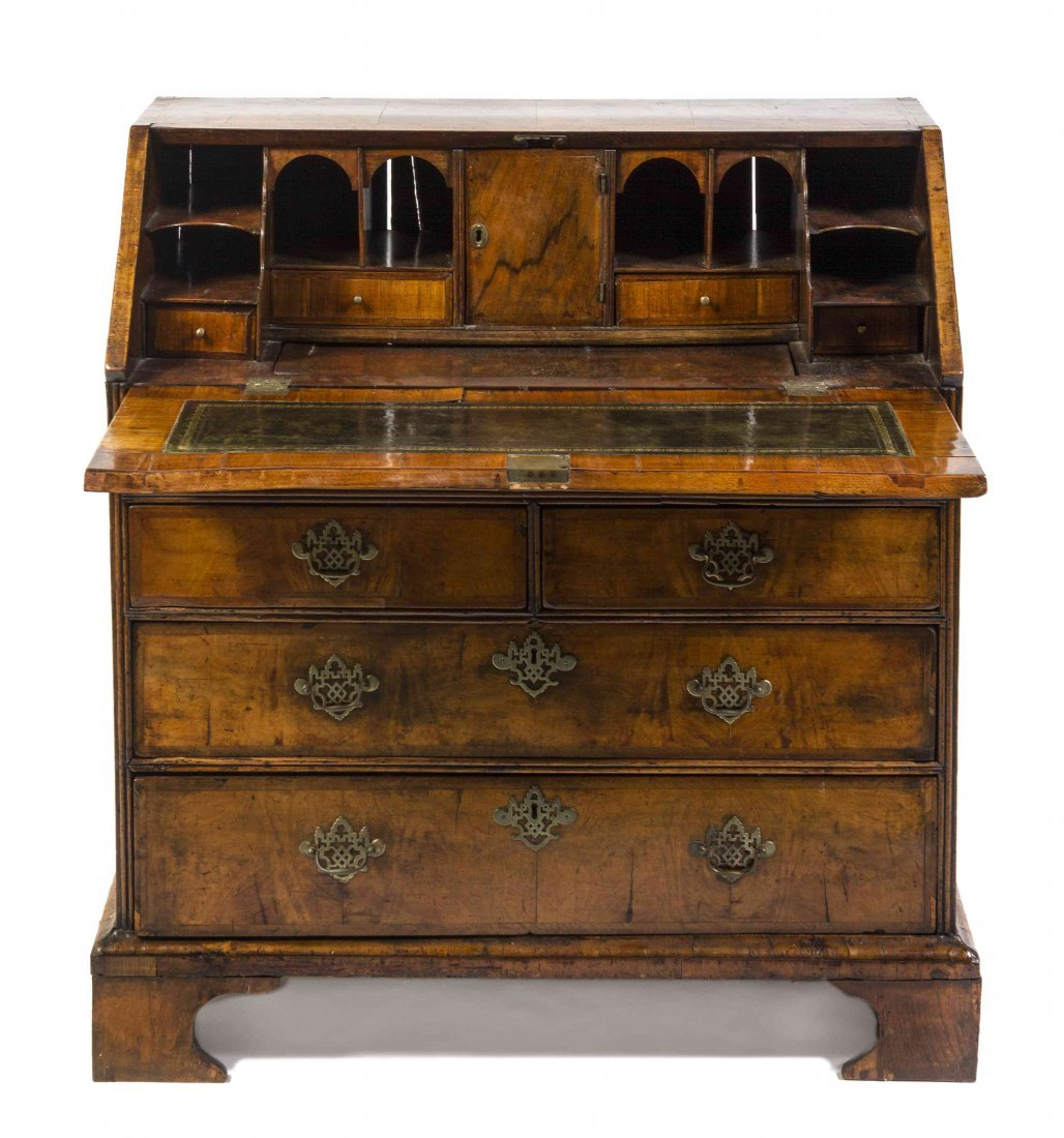 An American Queen Anne Slant Front Desk, Height 40 x