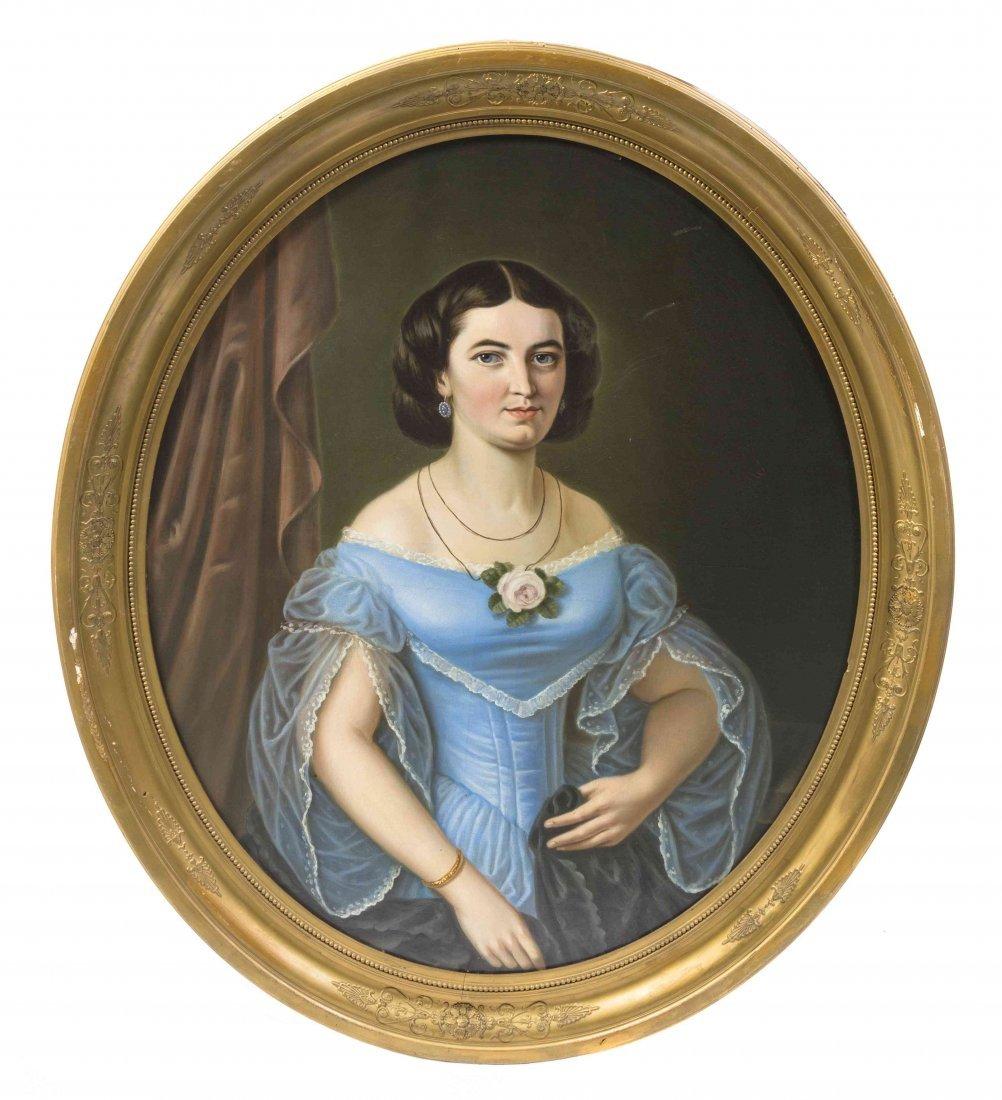 American School, (19th Century), Portrait of Rachel War