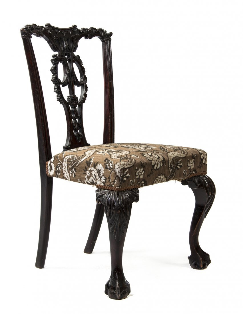 A Chippendale Style Side Chair, Height 37 inches.