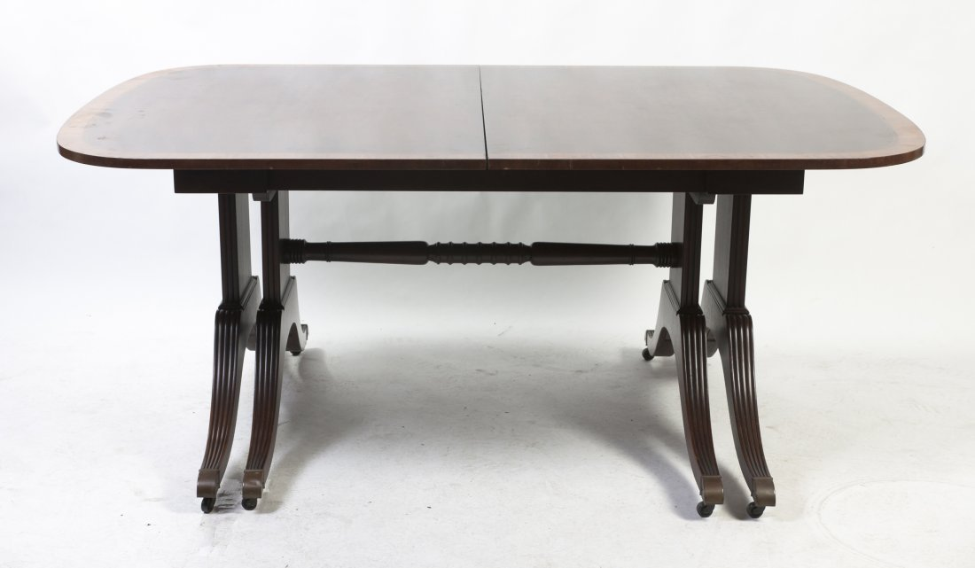A Mahogany Extension Dining Table, Baker, Height 29 x