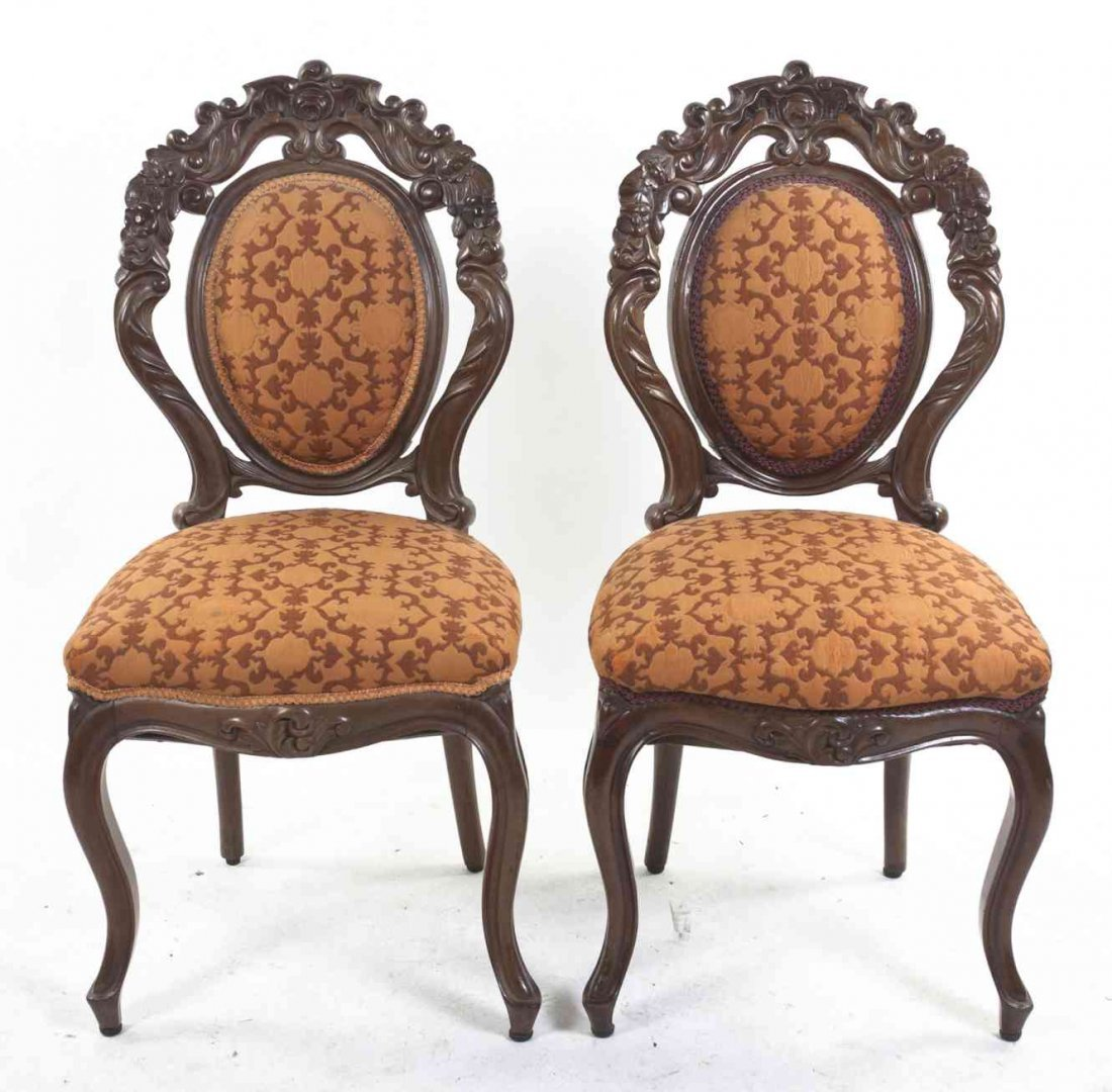 A Pair of Southeast Asian Hardwood Side Chairs, Height