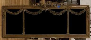 A Louis XVI Style Giltwood Mirror, Height 25 1/2 x