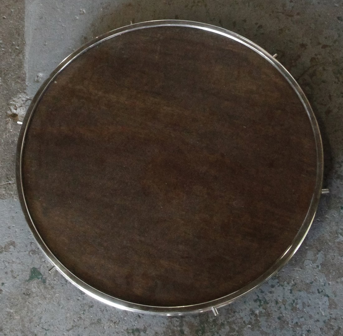 A Silver-Plate Lazy Susan, Diameter 23 1/2 inches.