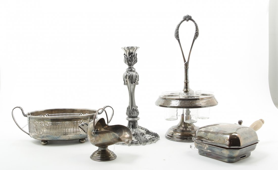 A Group of Silver-Plate Table Articles, 20th century,