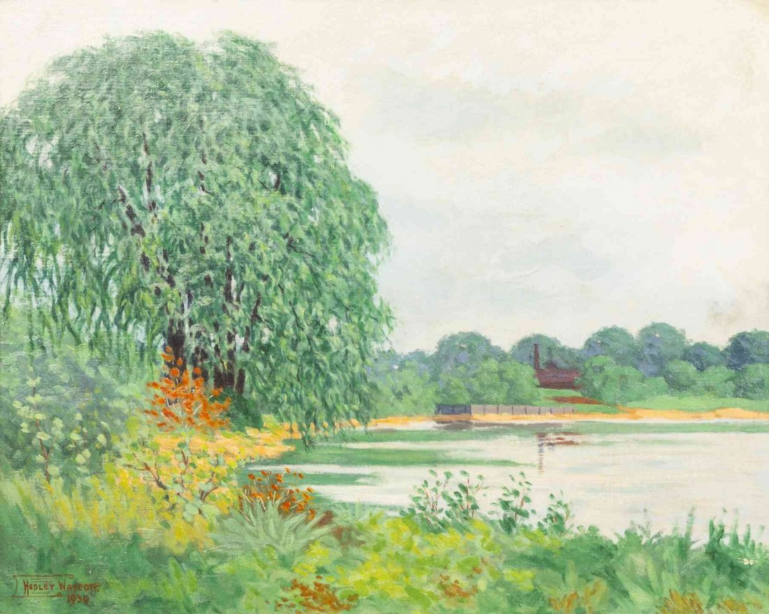Hedley Waycott, (American, 1865-1938), In the Marshes,