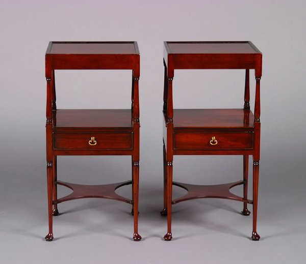 7: A Pair of Mahogany Side Tables,