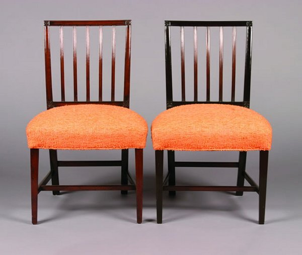 17: A Pair of George III Style Mahogany Side