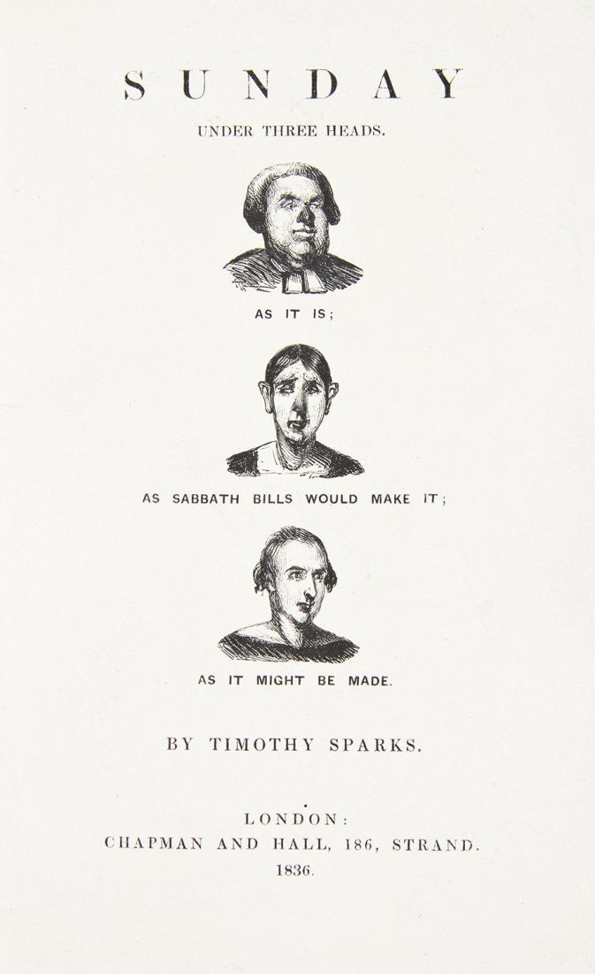 [DICKENS, CHARLES] SPARKS, TIMOTHY, pseud. Sunday Under