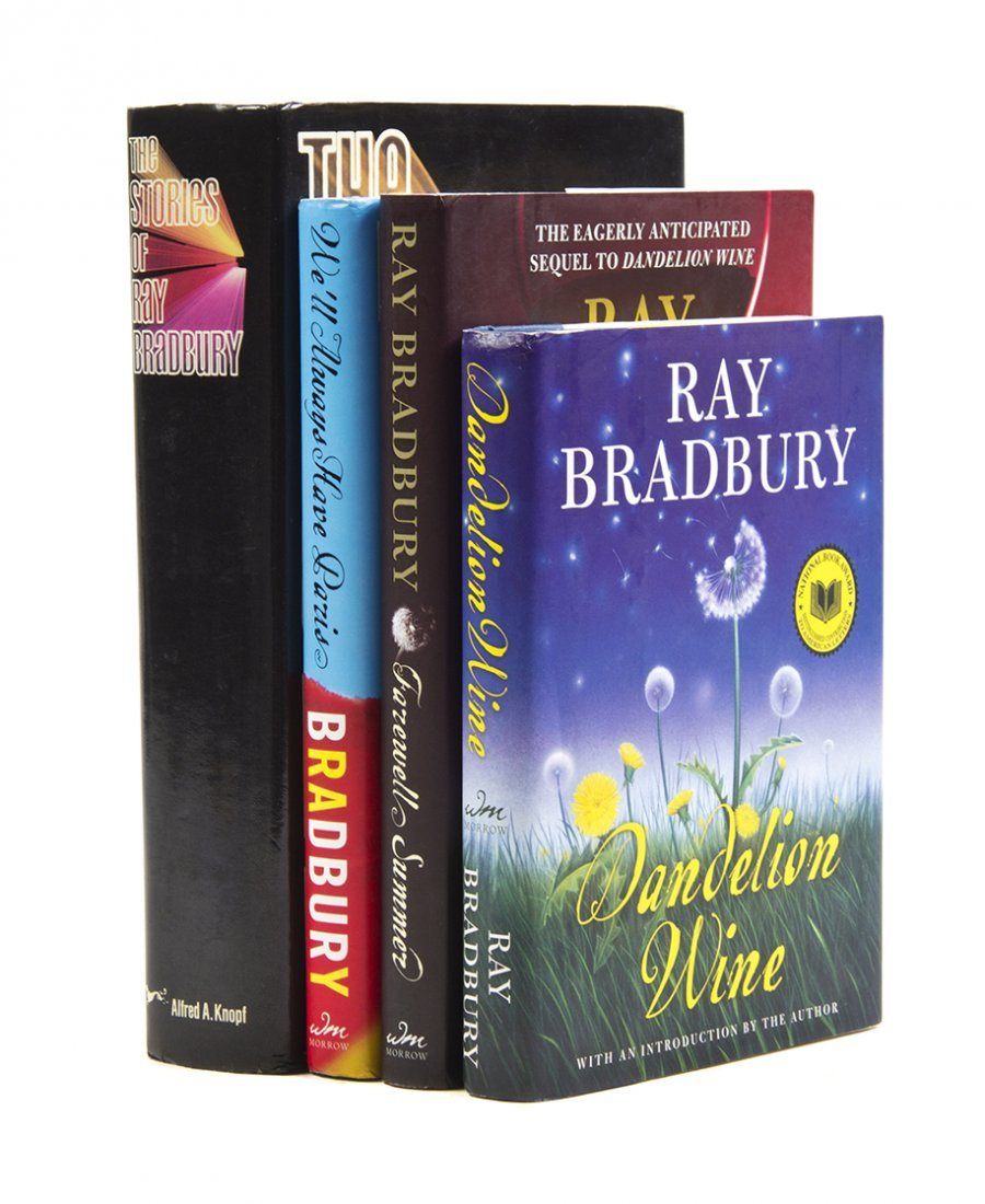 BRADBURY, RAY. A group of four signed books, two first