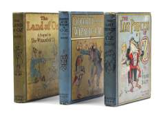 """BAUM, FRANK L. A group of three books from the Oz"""""""