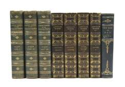 BINDINGS A group of 8 books bound in varying shades