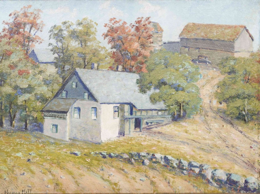 Herman Matt, (American, 20th century), Farmhouse