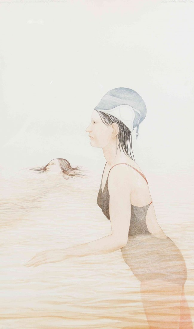 Nancy Ekholm Burkert, (American, b. 1933), Swimming in