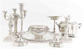 A Collection of SilverPlate Table Articles Diameter